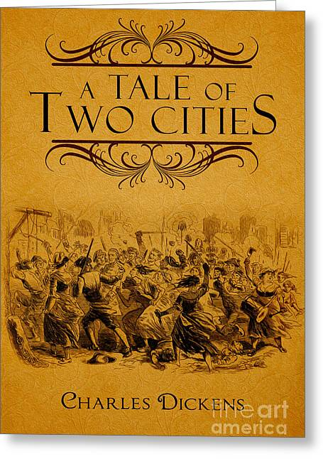 A Tale Of Two Cities Book Cover Movie Poster Art 1 Greeting Card by Nishanth Gopinathan