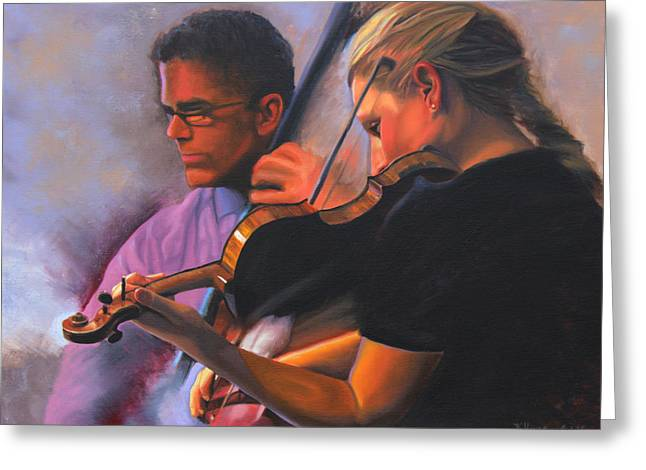 A Tale Of Two Musicians Greeting Card