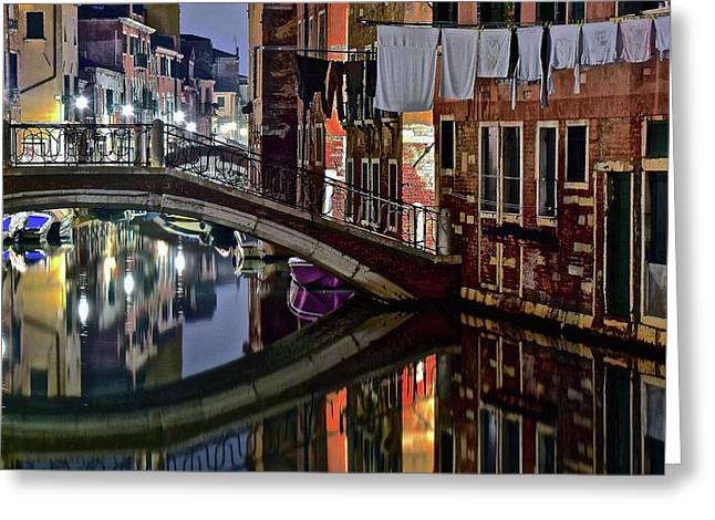 A Taste Of Venice Greeting Card by Frozen in Time Fine Art Photography