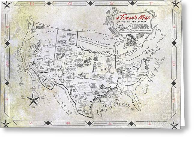A Texan's Map Greeting Card