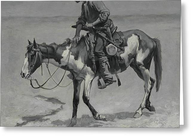 A Texas Pony, 1889  Greeting Card by Frederic Remington