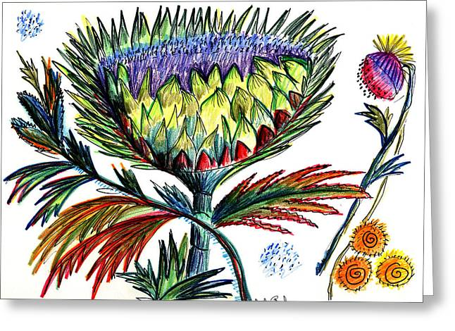 A Thistle Greeting Card by Julie Richman