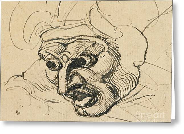 A Threatening Head Greeting Card by Henry Fuseli