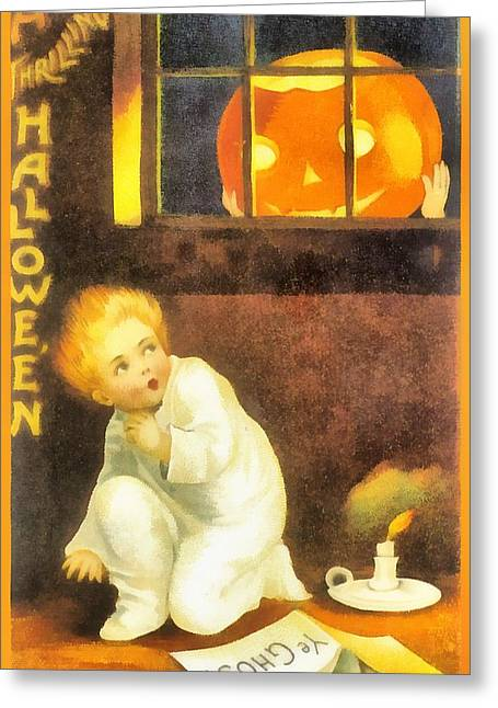 A Thrilling Halloween Greeting Card by Ellon Clapsaddle