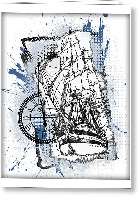 A Time To Sail Greeting Card by Melissa Smith