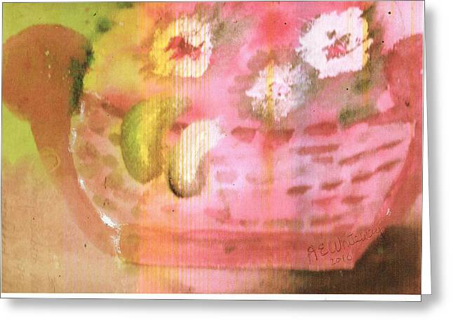 A Tisket A Tasket Greeting Card by Anne-Elizabeth Whiteway