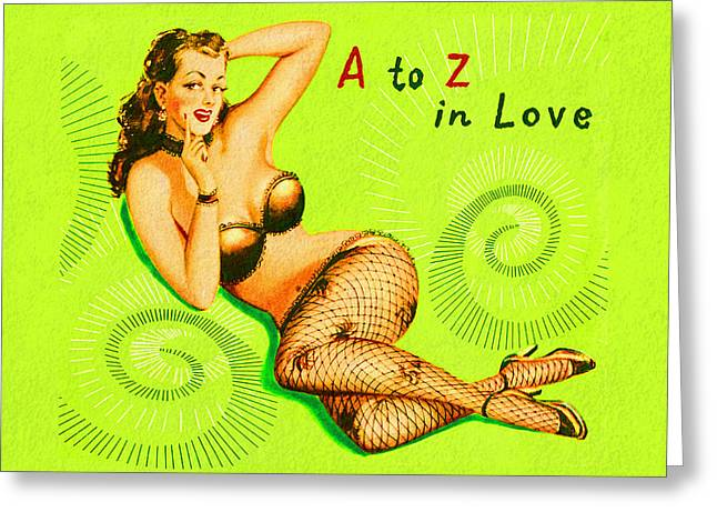 A To Z In Love Greeting Card