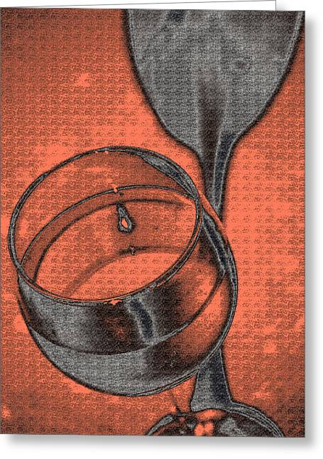 A Toast In Orange Greeting Card by Marnie Patchett