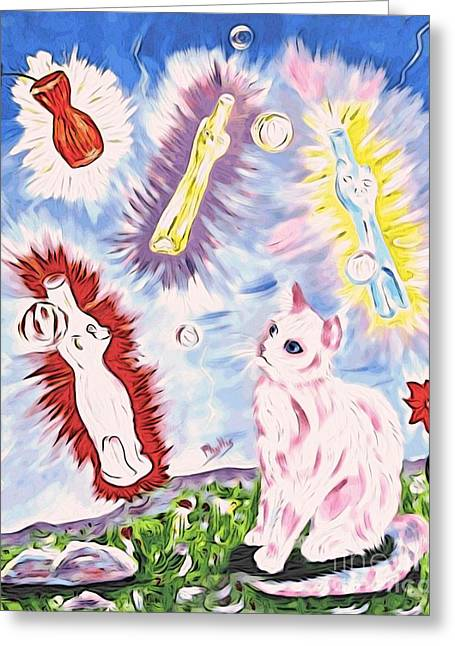 A Totally Unexpected Day Greeting Card by Phyllis Kaltenbach