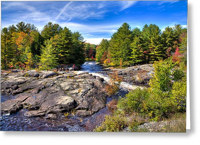 A Touch Of Autumn At The Black River Greeting Card