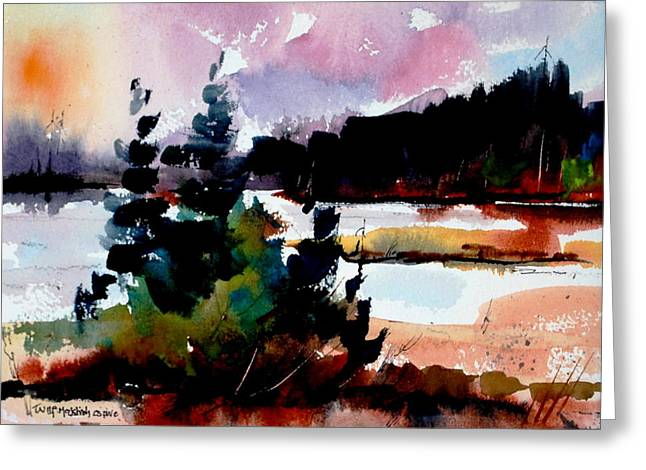 A Touch Of Fall Greeting Card by Wilfred McOstrich