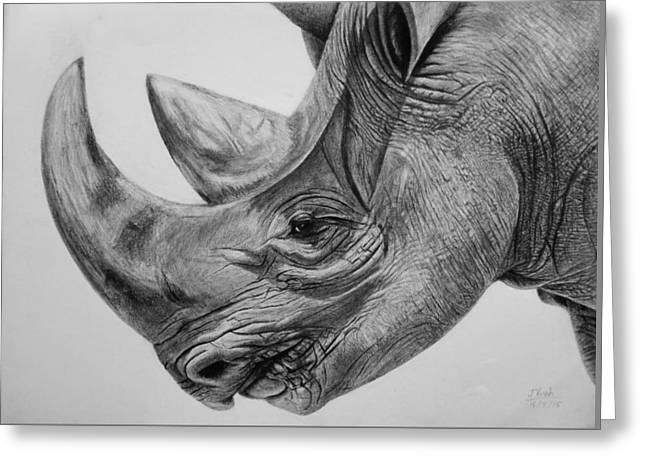 Rhinoceros - A Peaceful Giant Greeting Card