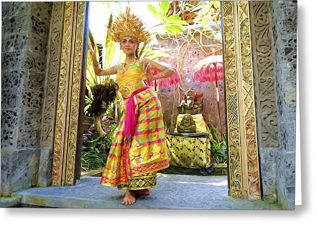A Traditional Kecak Dances Greeting Card