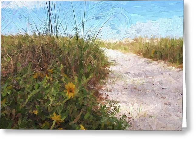 A Trail To The Beach Greeting Card
