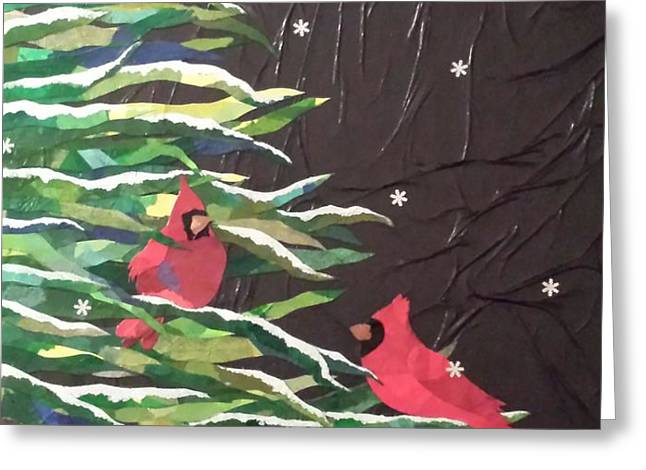 A Light Snowfall Greeting Card by Diane Miller