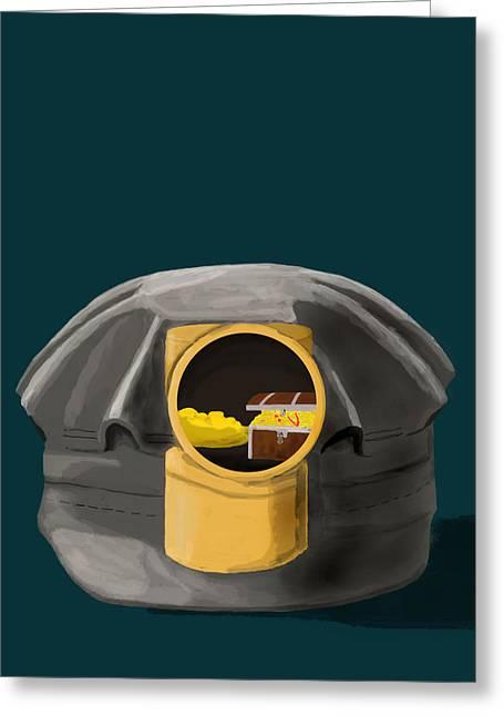 A Treasure Inside The Miners Helmet Greeting Card
