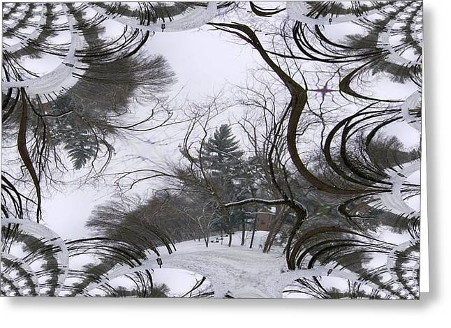 A Tree Fractal Greeting Card