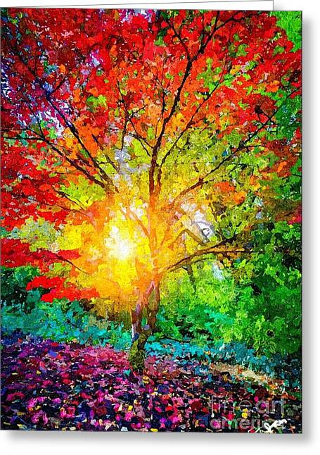 A Tree In Glory Greeting Card