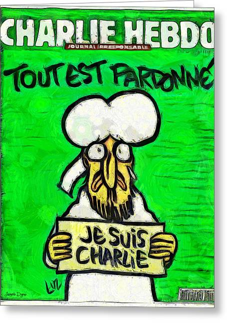 A Tribute For Charlie Hebdo - Da Greeting Card
