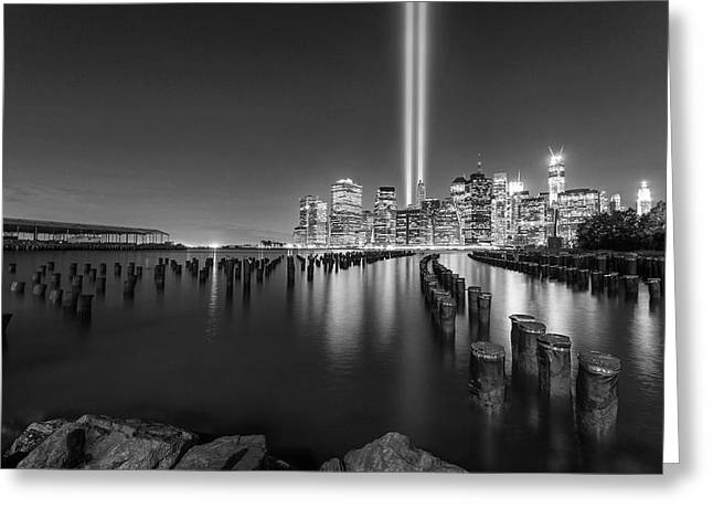 A Tribute In Lights - 2012 Greeting Card by Michelle Neacy