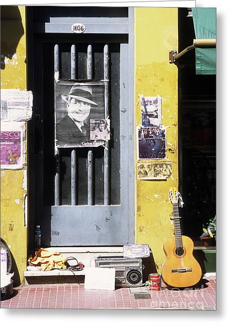 A Tribute To Carlos Gardel Greeting Card