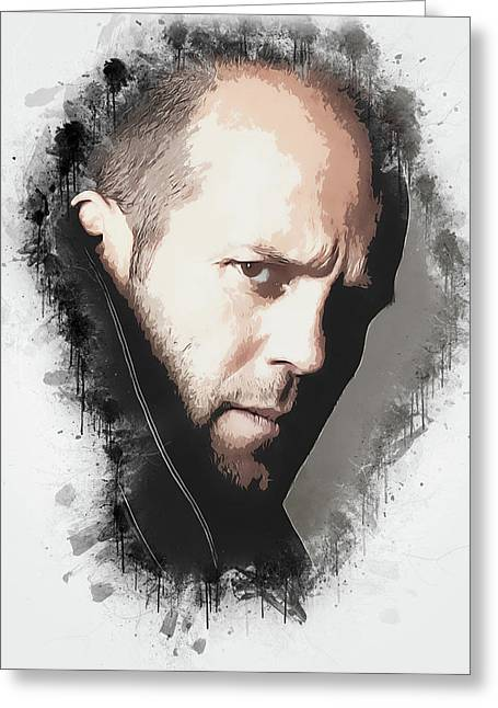 A Tribute To Jason Statham Greeting Card