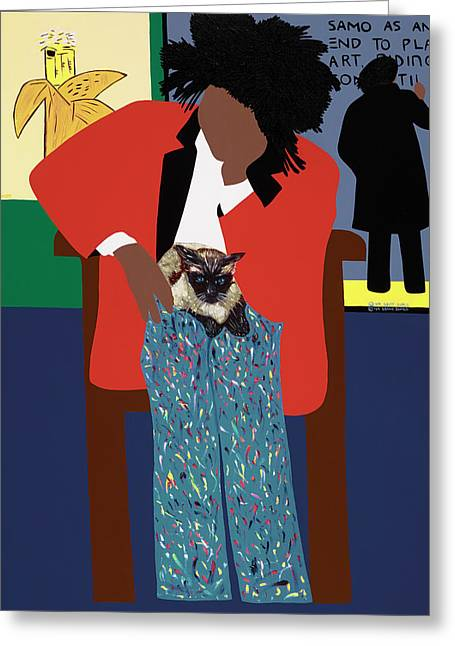 A Tribute To Jean-michel Basquiat Greeting Card by Synthia SAINT JAMES