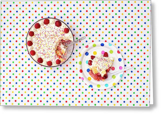 A Trifle Dotty Greeting Card by Tim Gainey