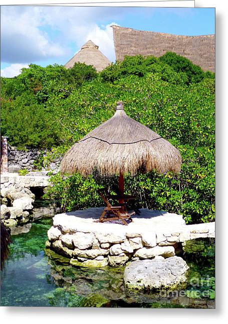Greeting Card featuring the photograph A Tropical Place To Relax by Francesca Mackenney