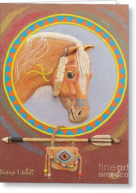 A True Leader, Puuku Greeting Card by Duane West
