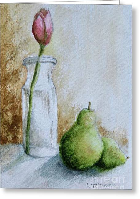 A Tulip And Two Pears Greeting Card