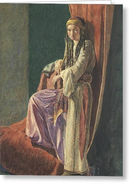 A Turkish Girl Greeting Card by George Price Boyce