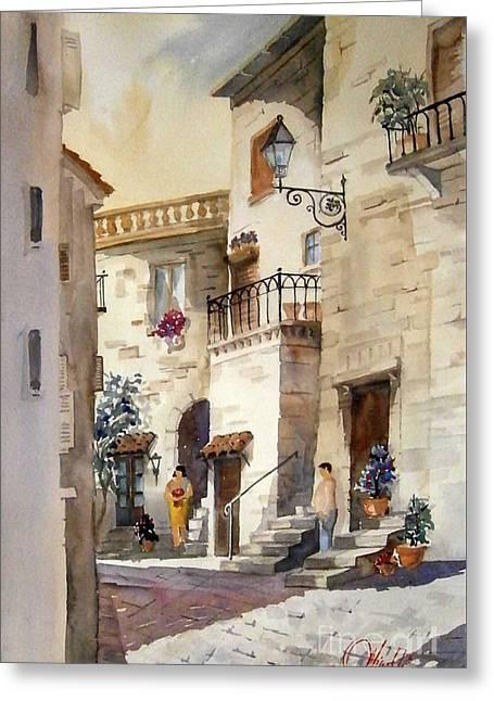 A Tuscan Street Scene Greeting Card