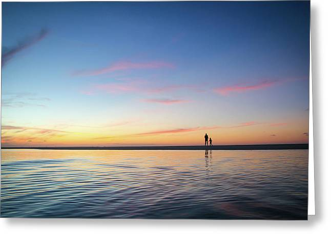 A Twilight Beach Walk Greeting Card