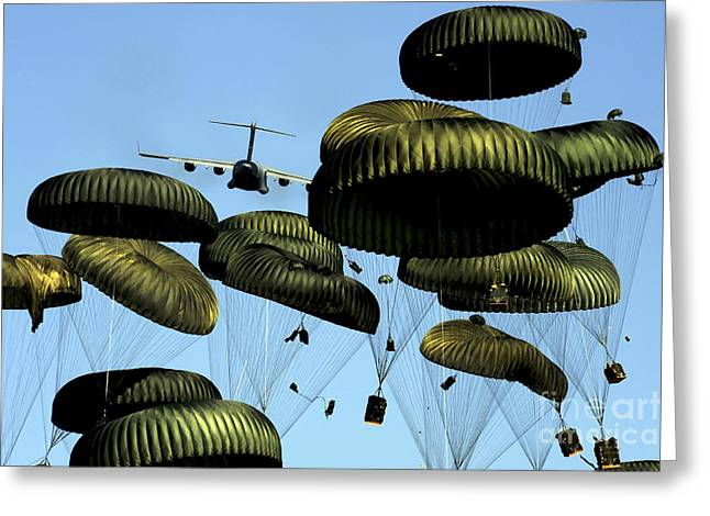A U.s. Air Force C-17 Globemaster IIi Greeting Card by Stocktrek Images