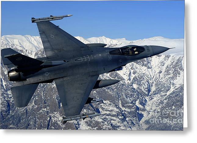A U.s. Air Force F-16 Fighting Falcon Greeting Card by Stocktrek Images