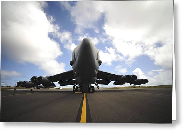 Aircrew Greeting Cards - A U.s. Air Force Maintenance Crew Greeting Card by Stocktrek Images