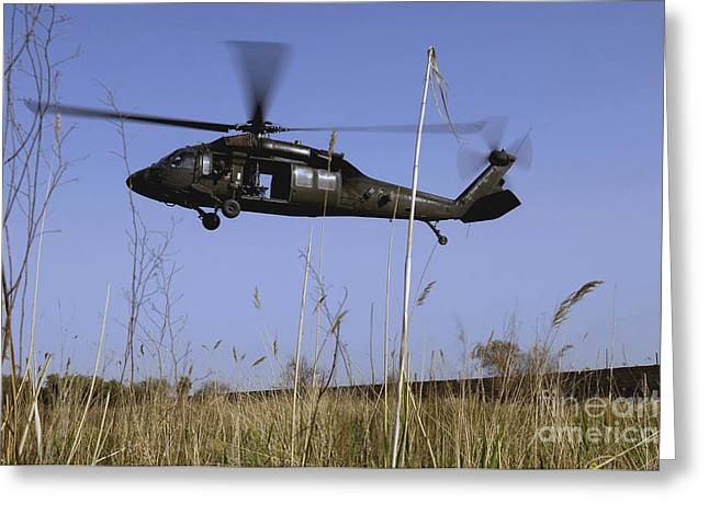 A U.s. Army Uh-60 Black Hawk Helicopter Greeting Card by Stocktrek Images