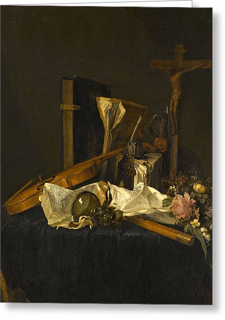 A Vanitas Still Life Greeting Card