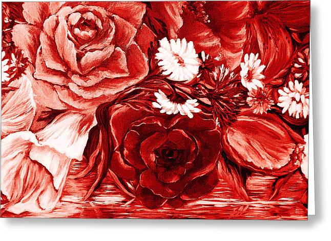 A Velvet Rose Greeting Card by Katreen Queen