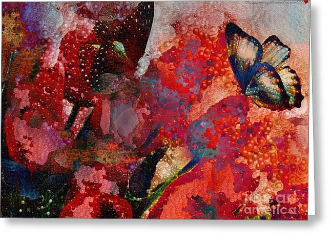 A Very Fairy Tale Of Two Butterflies In Pearlesque Greeting Card