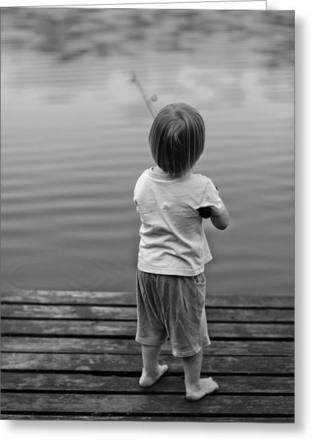 A Very First Fishing Greeting Card by Deividas Kavoliunas