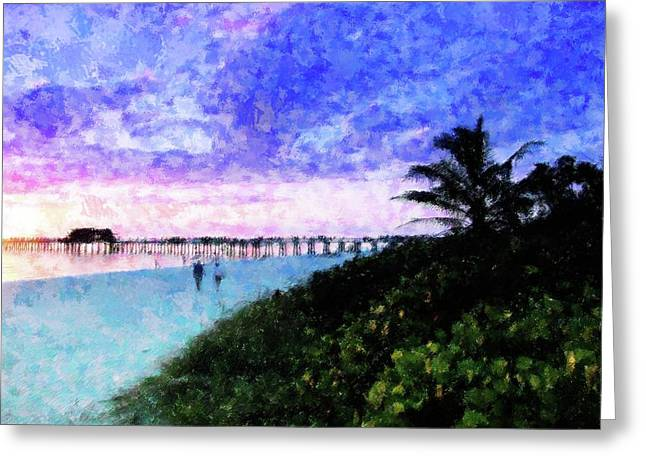 A View At Naples Pier Greeting Card