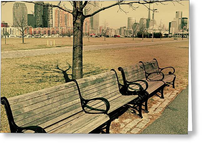 A View From A Park Bench Greeting Card by JAMART Photography