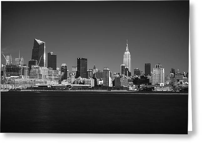 Greeting Card featuring the photograph A View From Across The Hudson by Eduard Moldoveanu