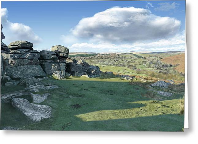 A View From Combestone Tor Greeting Card