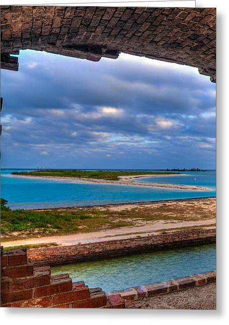 A View From Fort Jefferson Greeting Card by Andres Leon