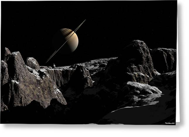 A View From Iapetus Greeting Card