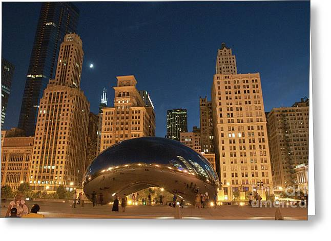 A View From Millenium Park At Night Greeting Card