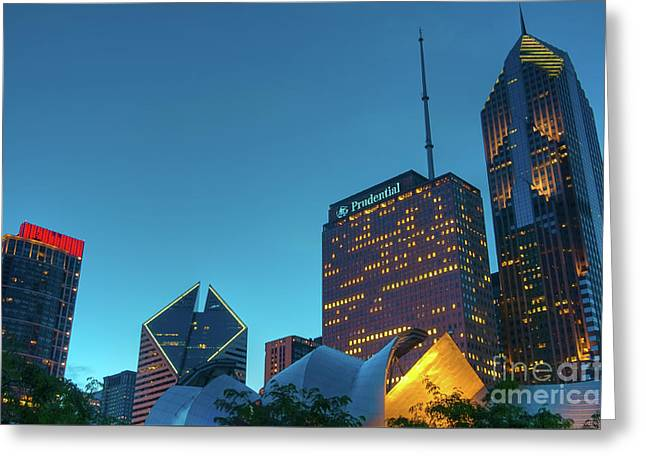 A View From Millenium Park Greeting Card